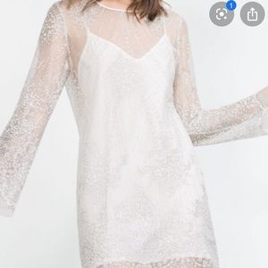Zara sparkly tulle dress